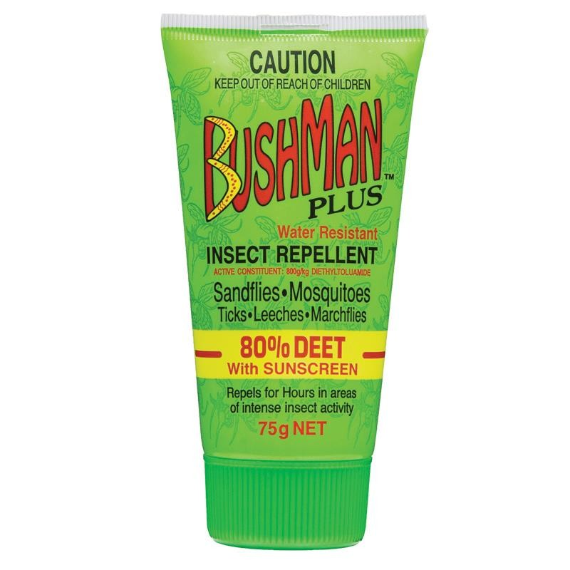 BUSHMAN DEET 80% + SUNSCREEN 75GM