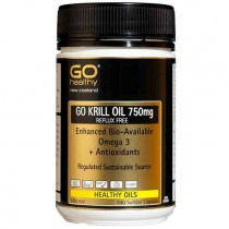 GO HEALTHY KRILL OIL 750mg 100 Softgel Capsules