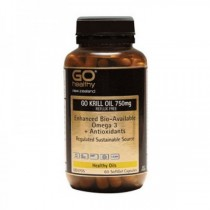 GO HEALTHY KRILL OIL 750mg 60 Softgel Capsules
