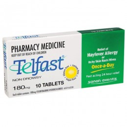 TELFAST 180MG 10 Tablets