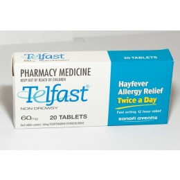 TELFAST 60MG 20 TABLETS