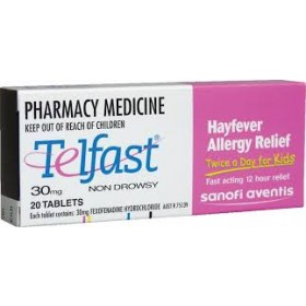 TELFAST CHILDREN 30MG 20 TABLETS